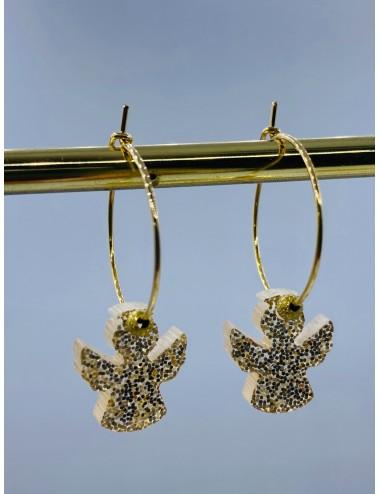 Boucles d'oreilles SCINTI 2 anges